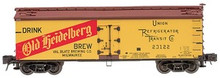 Atlas O Old Heidelberg Beer (Version 1) 40' wood reefer, 3 rail or 2 rail  car