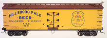 Atlas O Hillsboro Beer 40' wood reefer, 3 rail or 2 rail  car