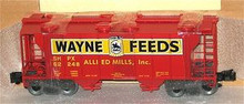 Weaver special run Wayne Feeds 34' PS-2 covered hopper car (black letters)