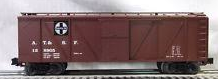 Crown (Weaver) Santa Fe outside braced (wood) box car, 3 rail or 2 rail