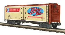 MTH Premier Fisher Beer 40' Steel  Reefer, 3 rail