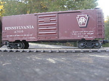 Weaver PRR (tuscan) 40' PS-1 box car, 3 rail or 2 rail