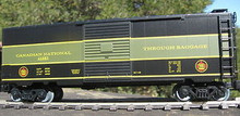 Weaver CN Through Baggage (black/green) 40' PS-1 box car, 3 rail or 2 rail