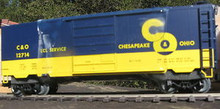 Weaver Chesapeake & Ohio 40' PS-1 box car, 3 rail or 2 rail