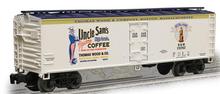 Weaver Uncle Sam Coffee 40' Reefer, 3 or 2 rail