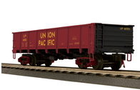 MTH UP (yellow letters) 50 Ton steel Drop Bottom Gondola Car, 3 rail