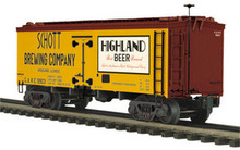 MTH Schott Brewing Co 36' wood reefer,  3 rail