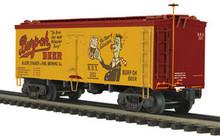 MTH Premier Burp 'O' Beer 36' wood reefer,  3 rail