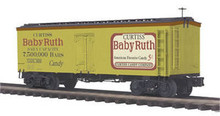 MTH Premier Baby Ruth 36' wood reefer,  3 rail