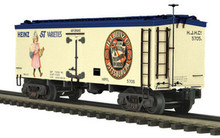 MTH Premier Heinz (Girl in Pink) 36' wood reefer, 3 rail