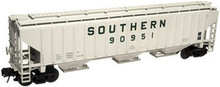 Atlas O Southern  PS4750 3 bay covered hopper, 3 or 2 rail
