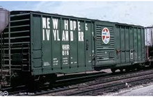 Atlas O PDT Exclusive New Hope and Ivyland   50' box car, 3 rail or 2 rail