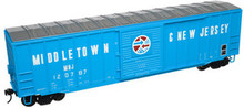 Atlas O PDT Exclusive Middletown and New Jersey  50' box car, 3 rail or 2 rail