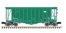 Pre-order for Atlas O Conrail (PC green) Airslide Covered Hopper, 3 rail or 2 rail