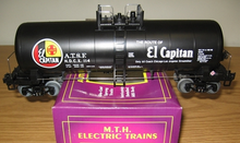 MTH Premier Santa Fe- South West Division 40' Modern Tank Car, 3 rail