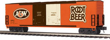 MTH A&W Root Beer 50' Double Plug Door Box car, 3 rail