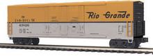 MTH Rio Grande 50' Double Plug Door Box car, 3 rail