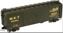 Atlas O MKT (green)1937 style  AAR 40' Double door steel box car, 3 rail or 2 rail