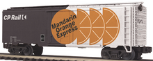 "MTH Premier CP  ""Mandarin Orange"" 40'  plug door reefer, 3 rail"