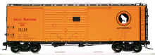 Atlas O GN (orange) 1937 style 40' DD steel box car, 3 rail or 2 rail