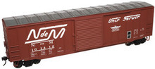 "Atlas O NdeM  1970's and later 50' 6"" box car, 3 rail or 2 rail"