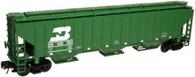 Atlas O BN  PS4750  3 bay covered hopper, 3 rail or 2 rail