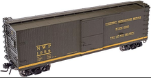 Atlas O  NWP (express svc)  40'  double sheathed (wood)  box car