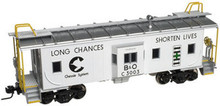 Atlas O Chessie Safety (white) Bay window caboose,2 rail