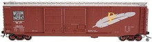 Atlas O special run WP 50' DD DF box car, 2 rail or 3 rail
