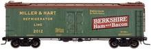 Atlas O Berkshire Ham & Bacon (green)  40' wood reefer, 3 rail or 2 rail