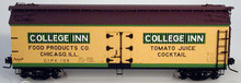 Atlas O College Inn 40' wood reefer, 3 rail or 2 rail
