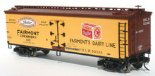 Atlas O Fairmont Creamery 40' wood reefer, 3 rail or 2 rail
