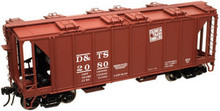 Atlas O DT&S 34'  ACF Covered Hopper, 3 rail  or 2 rail