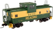 Atlas O Reading  Extended Vision caboose, 3 rail or 2 rail