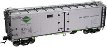 Atlas O IC  (silver)  40' steel reefer, 3 rail or 2 rail