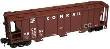 Atlas O Conrail  40'  3 bay covered hopper, 3 rail  or 2 rail