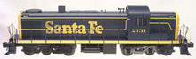 Atlas O Santa Fe (blue)  Alco  RSD-5 diesel, 3 rail, horn and bell