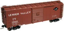 Atlas O LV 40' PS-1 box car (tuscan),  3 rail or 2 rail
