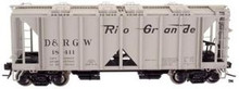 Atlas O Custom Rio Grande  ACF 34' Covered Hopper, 3 rail or 2 rail