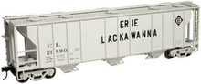 Atlas O EL (gray) 40'  PS-2  3 bay covered hopper, 3 rail or 2 rail