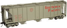 Atlas O SP  40'  3 bay PS-2 covered hopper, 3 rail  or 2 rail