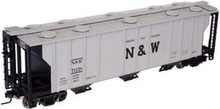 Atlas O N&W  40'  3 bay covered hopper, 3 rail  or 2 rail