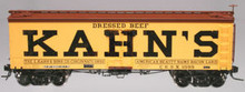 Atlas O  Kahn's  (large letters)  36' wood reefer,  3 rail or 2 rail
