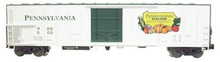 Weaver PA Produce (PRR) 57' Mechanical Reefer, 3 rail