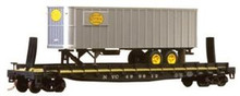 Weaver NYC  trailer on flat car, 3 or 2 rail