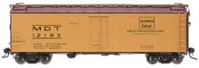 Atlas O Lackawanna  40' steel reefer, 3 or 2 rail