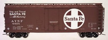 Atlas O Santa Fe 40' plug door reefer, 3 rail or 2 rail