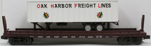 Weaver PDT exclusive Oak Harbor trailer on SP&S flat car, 2 rail or 3 rail