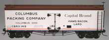 Atlas O Columbus Packing 36' wood reefer, 3 or 2 rail