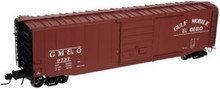 Atlas O GM&O (tuscan)  50' box car, 3 rail or 2 rail